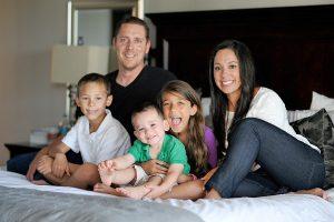 San Antonio modern family portrait at home