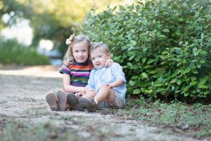 modern sibling portrait