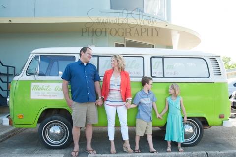 family photos in downtown San Antonio