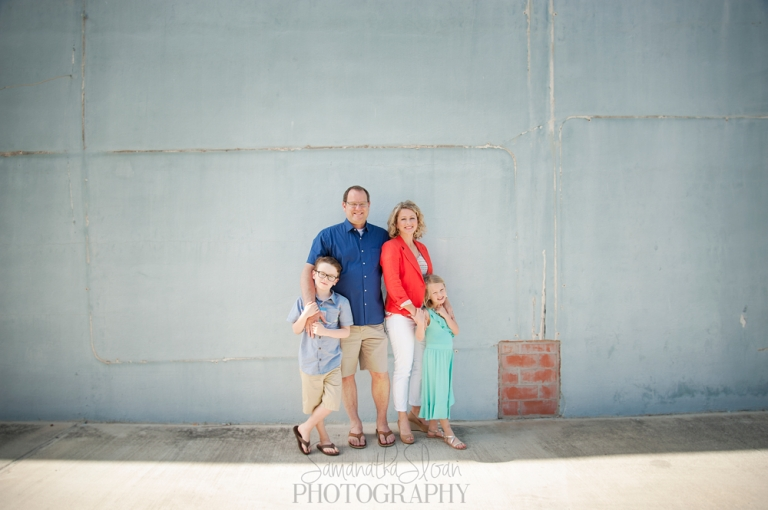 Family Posing In Downtown San Antonio For Pictures