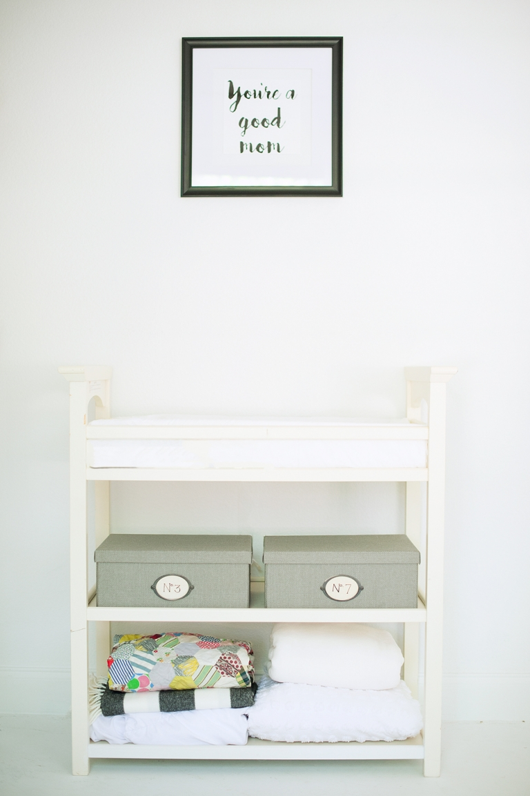 changing table in Samantha Sloan Photography's studio