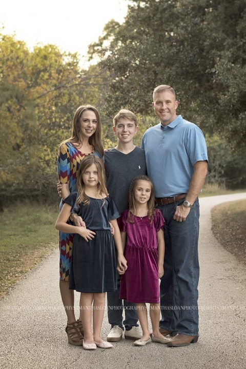 Family Posing For Photos At Walker Ranch Park In San Antonio, Texas