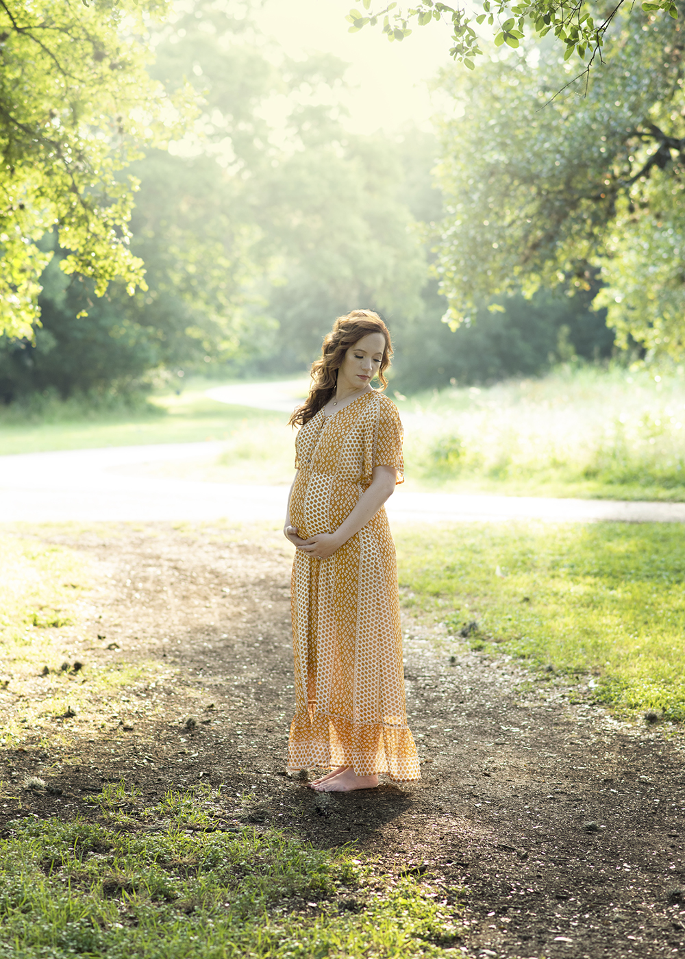 San Antonio Area Maternity Portrait At Walker Ranch Historical Landmark Park