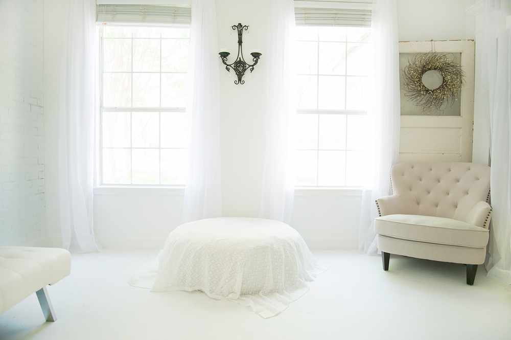 Samantha Sloan Photography's in home studio